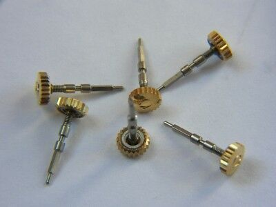 1xNOS Omega 35002 Gold Plate Watch Crown Cal 30T1/T2 260, 265-269, 280-286 +more