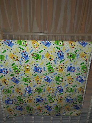 Large Cotton Flannel Receiving Baby Blanket Swaddle Girls Boys Neutral, flat top