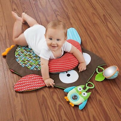 Little Forest TreeTop Friends Owl Baby Play Mat With Toys and Pillow
