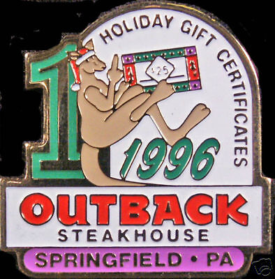 A2644 Outback Steakhouse Springfield Pa 1996 HTF