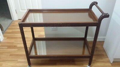 Antique hand-carved chinese drinks trolley