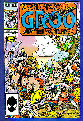 GROO THE WANDERER # 11 -- Volume 1 - Marvel 1986  (fn)