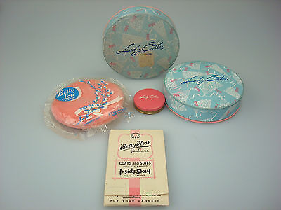 Vintage LADY ESTER products, Full unopened Face Powders, plus cute tin, puff, +
