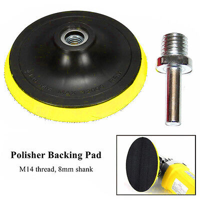 3/4/5/6/7'' Polishing Sander Backer Plate Hook Loop Sanding Disc Pad + 8mm Shank