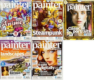 Corel Painter Official Magazine, 5 Issues. no disks.