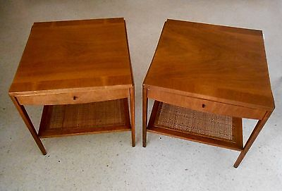 Mid Century Modern John Widdicomb End Tables/ Night Stands Pair