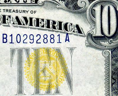 HGR 1934A $10 N.Africa ((Blue/Yellow)) Appears Borderline UNCIRCULATED