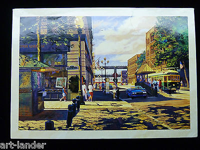 NEW Pioneer Square Seattle WA Trolley 1000 pc Marshall Johnson Art Jigsaw Puzzle
