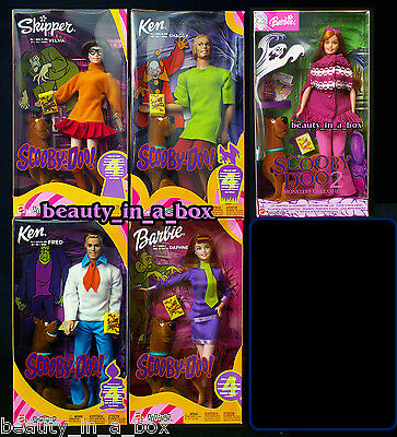 SCOOBY DOO Barbie Doll Daphne Velma Fred Shaggy Monsters Unleashed Lot 5 OK""