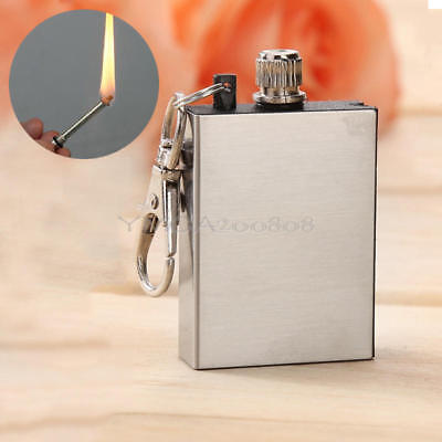 Portable Survival Fire Starter Flint Match Metal Lighter Hiking Camping Tool 1pc