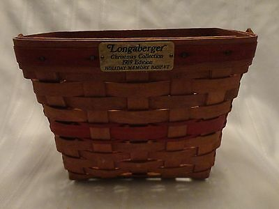 Longaberger Christmas Collection 1989 Edition Holiday Memory Basket