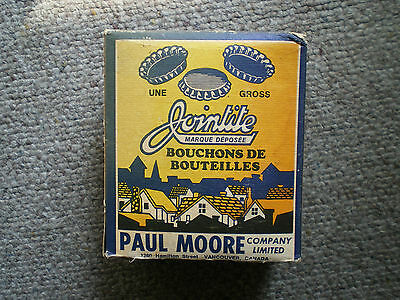 vintage 1950,s paul moor company jointite  bottle caps full original box nice