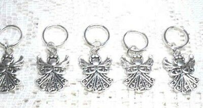 Stitch markers with Angel charms
