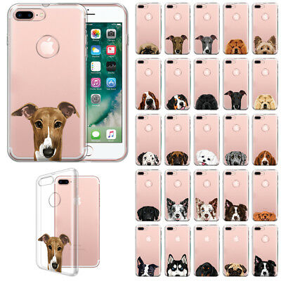 """For Apple iPhone 8 Plus / iPhone 7 Plus 5.5"""" Dog Design TPU Clear Case Cover"""