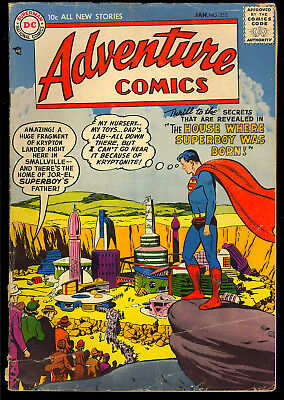 Adventure Comics #232 Nice Early Silver Age Superboy DC Comic 1957 GD
