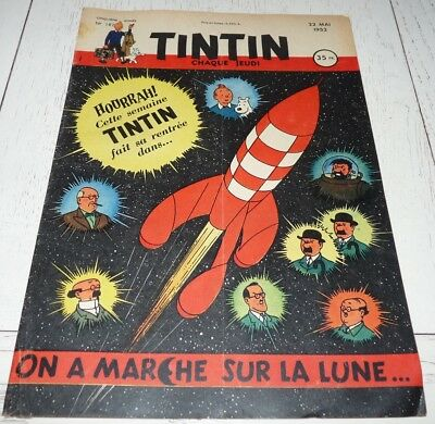 Tintin 22/05 1952 N°187 Herge On A Marche Sur Lune Blake & Mortimer Jacobs Alix