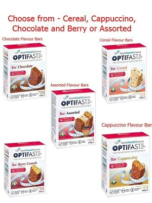 Optifast VLCD  Bars - Choc Berry Cereal Cappuccino 6 Pack Weightloss