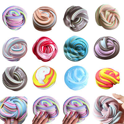 Colorful Fluffy Floam Slime Scented Stress Relief No Borax Kids Toy Sludge Toys