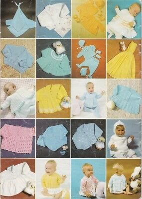Vintage Sirdar Knitting & Crochet Book for Babies Birth to 6 Months