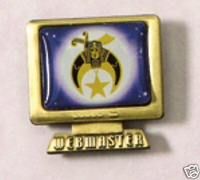 Shriner's Web Master Pin