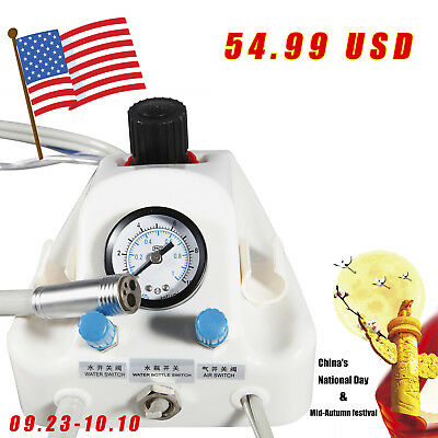 Dental Portable Air Turbine Unit for Compressor 4 Hole Adapter with 3way Syringe