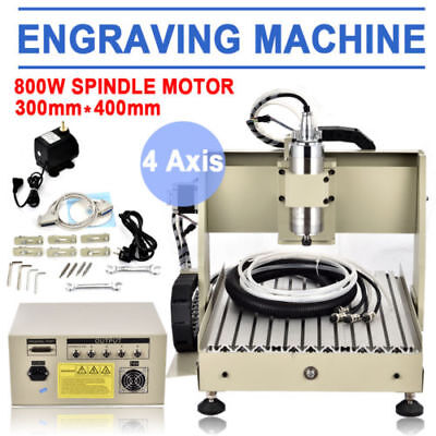 USB 3040 4 Axis CNC Milling Router Engraver Engraving CARVING DRILLING Machine