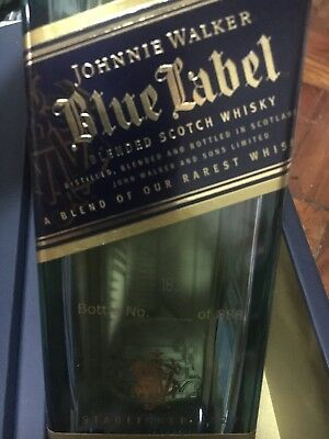 Johnnie Walker Blue Label Manila Edition Rare Serial Numbered /888 Empty