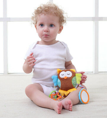 JJOVE Owl Musical Rattle Baby Hanging Activity Toy