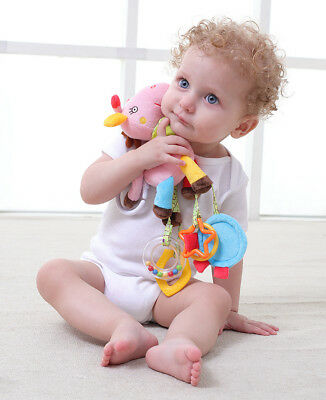 JJOVE Horse Musical Rattle Baby Hanging Activity Toy