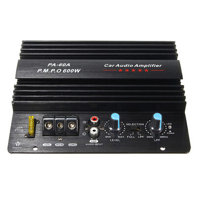 Durable 600W DC12V Mono Car Audio parts High Power Amplifier Board Bass Subwoof