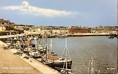 THE HARBOUR, WICK, CAITHNESS - Tinted PC - J.B.White of Dundee