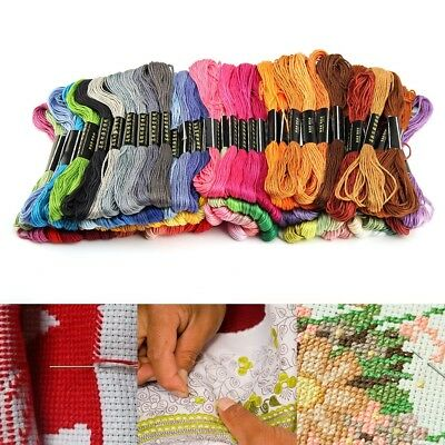 50 Mixed Colors Cross Stitch Cotton Embroidery Thread Sewing Skeins Floss 2017