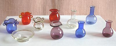 10 GLASS ORNAMENTS hand made 12th