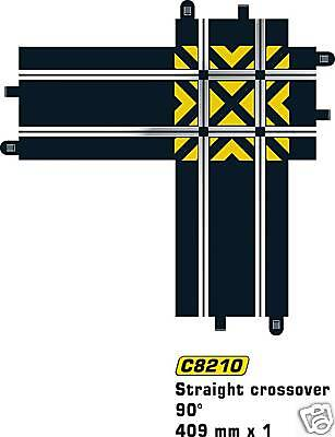 Scalextric Sport C8210 Straight Crossover Track 409 mm 90 Deg x 1