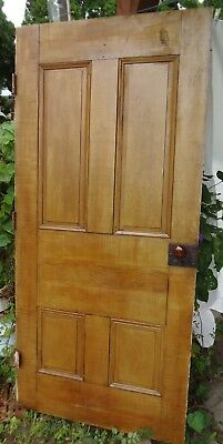Antique Door Grain Painted Raised Panel Folk Art 1800's Door 77.25 x 36