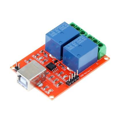 2 Channel USB Relay Module Programmable Computer Control For Smart Home DC 5V UK