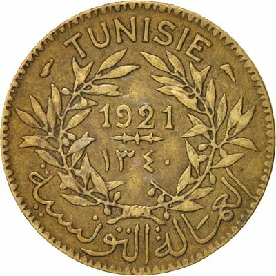 [#15388] Tunisia, Anonymous, Franc, 1921, Paris, BB, Alluminio-bronzo, KM:247