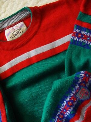SWEATER man vintage '80s SILVY TG52 circa .XL made in Italy RARE