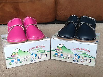 BNIB Baby, Kids Squeaky Shoes Pink or Blue Velcro Size 3, 4, 5 or 6