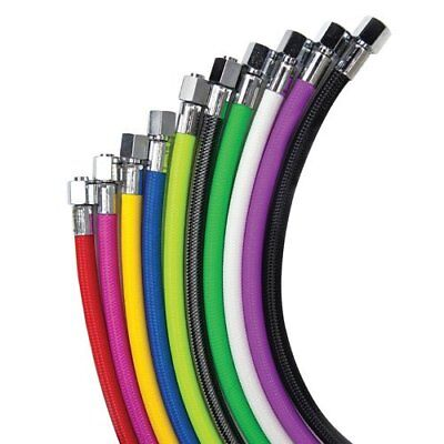 """Miflex Standard Regulator hoses in all Colours for 3/8"""" UNF First Stage Ports."""