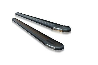 To Fit 13+ Ford Transit Custom LWB Side Running Boards Step Black - TYPE B