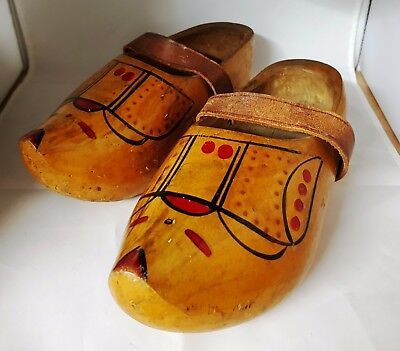 Handmade Traditional Wooden Dutch Clogs/Shoes Vintage