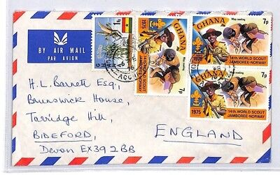 BQ78 1976 Ghana Devon Great Britain Airmail Cover {samwells} PTS