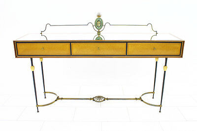 Nice Italien Console 1960s, Sideboard Credenza Italy Brass Mirror