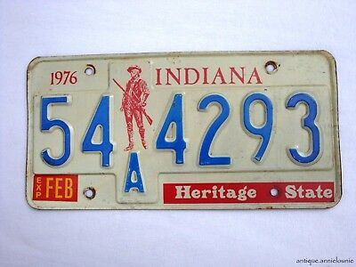 1976 INDIANA MONTGOMERY COUNTY Vintage License Plate # 54A4293