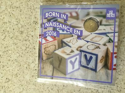 Born In 2016 Baby Coin Gift Set W/$1 Loonie Still Sealed As Issued By The Rcm!!!
