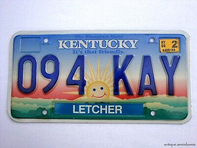 2002 KENTUCKY LETCHER COUNTY License Plate # 094 KAY