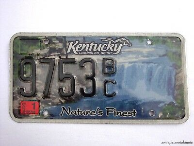 2001 KENTUCKY License Plate NATURE'S FINEST # 9753BC