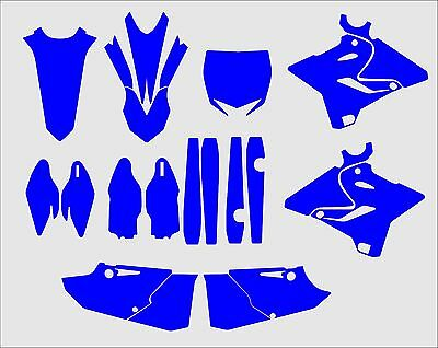 Yamaha YZ 125 250 2015 2016 2017 2018 Graphics Template vector EPS