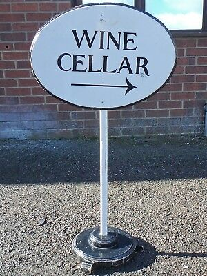 Art Deco antique hand painted hotel pub event sign Wine Cellar Private Function